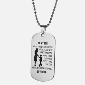 Jewelry - To My Son: Never Forget Dog Tag